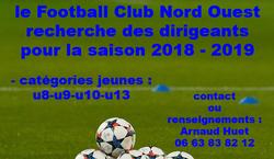 le club recherche des dirigeants pour les catégories jeunes. - Football Club du Nord Ouest