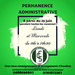Validation des licences + permanence administrative