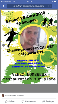 Challenge 28 avril 2018 - Football club bruillois