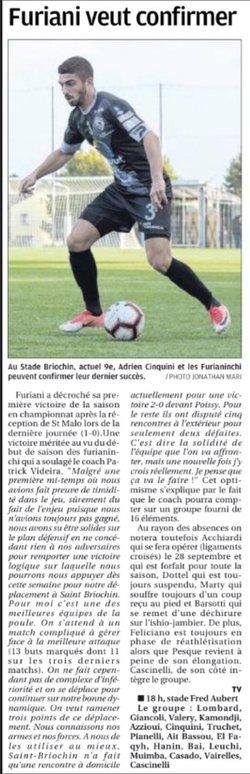 Presse avant match Stade Briochin - ASFA - AS furiani agliani