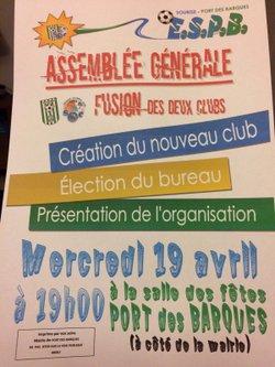 Fusion des clubs de Soubise et de Port des Barques - AG constitutive