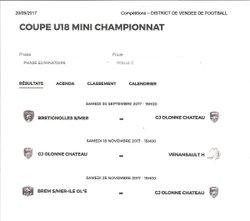 Tirage Coupe U18 - GJ OLONNE-CHATEAU