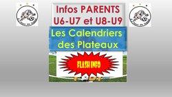 CALENDRIERS U6-U7 et U8-U9..