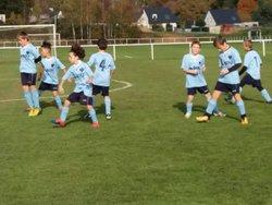 Échauffement avant match Equipe 2 U10 U11 - Groupement jeunes Coeur de Lanvaux