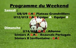 Programme du Weekend (17 et 18 Fevrier)