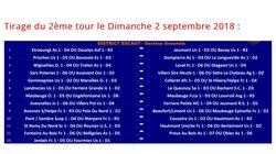 2ème tour de la Coupe de France le dimanche 02 septembre 2018 !