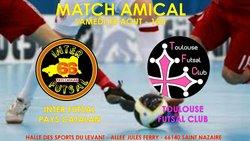 MATCH DE PREPARATION : INTER FUTSAL PAYS CATALAN - TOULOUSE FUTSAL CLUB - Inter Futsal Pays Catalan