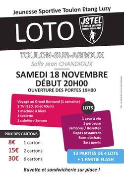 UNE SEMAINE AU GRAND BORNAND ET BIEN D'AUTRES LOTS A GAGNER AU LOTO DE LA JSTEL - Jeunesse Sportive Toulon-Etang-Luzy