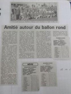 50 Ans  JSM Le journal de Stéphane (extraits)les années 2000 à 2005 - JS MARZY