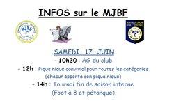 AG du MJBF et Journée de fin de saison - MONTREUIL-JUIGNÉ BÉNÉ FOOTBALL