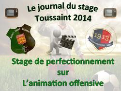 Le journal du stage de la Toussaint 2014: 5ème et dernière journée