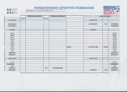 planning - PERSÉVÉRANTE SPORTIVE ROMANAISE