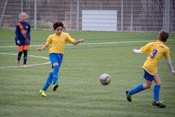 Les U12 contre l'équipe féminine U13 de Montpellier Hérault le17 février 2018 - RACING CLUB SAINT GEORGES D'ORQUES