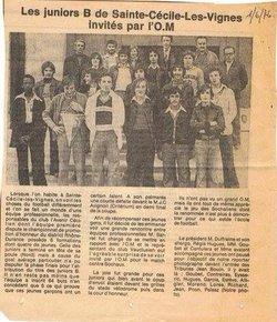 Articles des Journaux de l'Avenir Cécilien - Racing Club de Provence