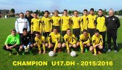 Bilan de la saison 2014/2015 : les Séniors se maintiennent à la dernière journée.Les U17.DH remportent leur championnat !