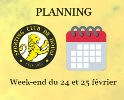PLANNING WEEK-END DU 24 ET 25 FEVRIER