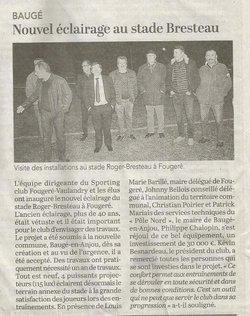 On en parle dans la presse... - SC FOUGERÉ VAULANDRY