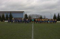 Coupe Pays de Loire : SCNA A / FC Ecommoy - Entrée des joueurs avec les débutants - Sporting Club Nord Atlantique