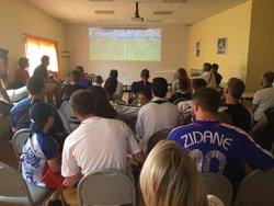 belle ambiance au SCPC pour le match de l'équipe de france contre l'australie ce samedi - SPORTING CLUB DE PETIT-COURONNE