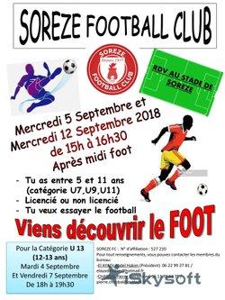 Sorèze FC - Journées d'initiation au football