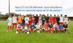 39 Photos des U17, U18  face à leurs éducateurs. - STADE RUFFECOIS
