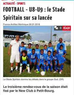 La section U9 du Stade Spiritain - Association Le Stade Spiritain