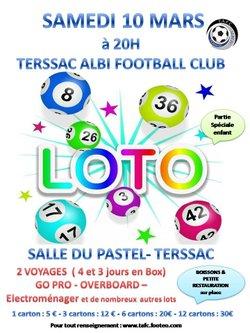 LOTO du TAFC - Terssac Albi Football Club