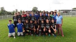 Vainqueurs de l'édition 2018 : l'US Saint-Malo devant St Marc Foot et l'équipe locale de Gj St-Gilles Gévezé Parthenay