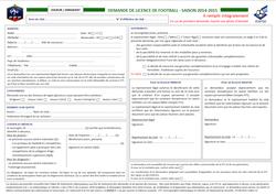 Formulaire de demande de licence à télécharger