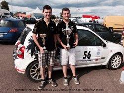 Clin d'oeil pour un équipage de Rallye en N3.
