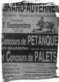 Concours de pétanque et de palets au Grand-Auverné le 1er Septembre 2018. - US ALVERNE, Grand Auverné