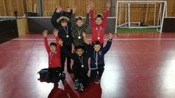 VICTOIRE DES U 11 A SAINT MAUR TOURNOI FUTSAL - UNION SPORTIVE LE POINCONNET FOOTBALL