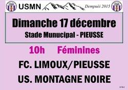 Les féminines à Pieusse pour affronter Limoux