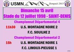 Dimanche 15 avril, les 2 équipes séniors reçoivent pour rester dans la course