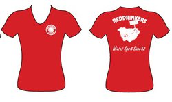 Tee-shirt Red Drinkers femme