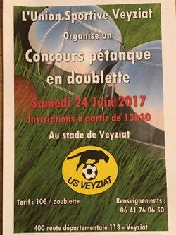 concours de pétanque samedi 24 juin 2017 - US Veyziat