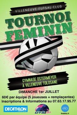 TOURNOI DIMANCHE 1ER JUILLET - Villeneuve Futsal Club