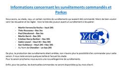 informations pour les catégories U7 à U13 - yvetot ac