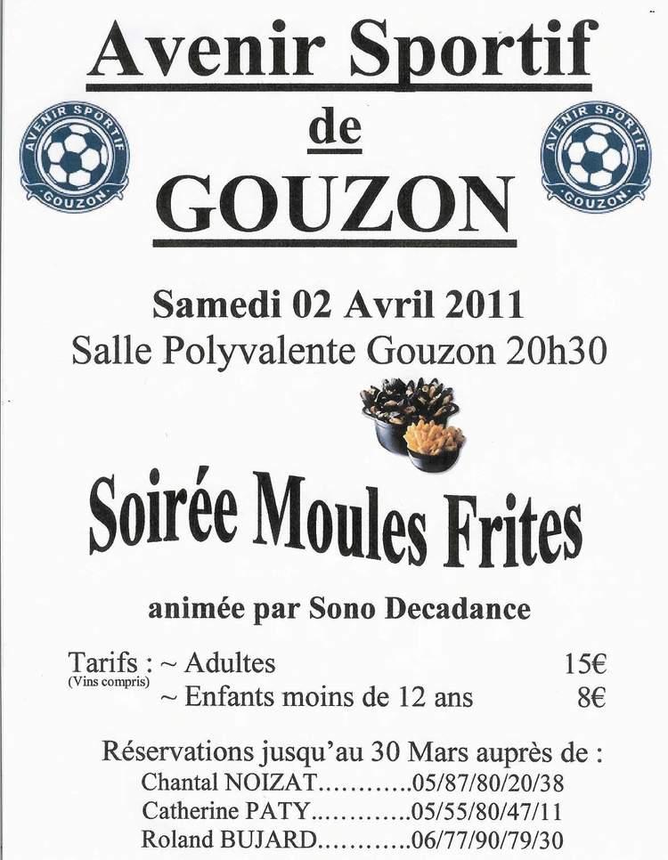 Affiche soirée moules frites du 2 avril 2011