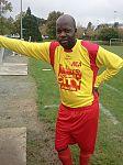 Rolland Mbata avant le match