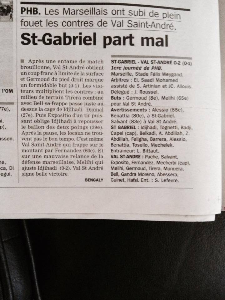 Article La Marseillaise du 21 Septembre 2015