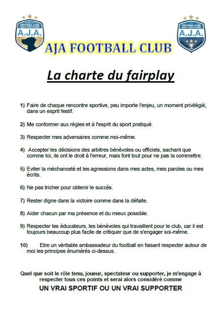 La charte du Fairplay 1