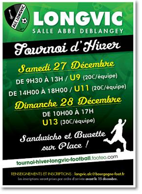 Affiche Tournoi Futsal 2014 de l'ALC Longvic Football