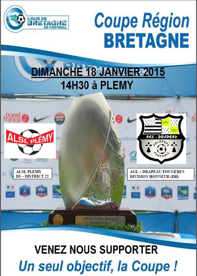Actualit tirage coupe de bretagne club football alsl plemy section foot footeo - Coupe de bretagne seniors ...