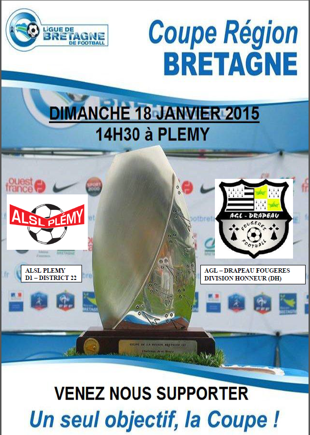 Actualit tirage coupe de bretagne club football alsl plemy section foot footeo - Tirage coupe de bretagne football ...