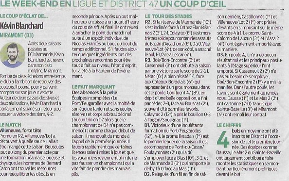 article sud ouest du 11 09 2018 CONTRE CASTELMORON.jpeg
