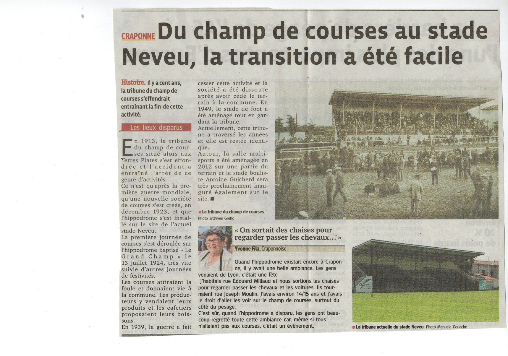Histoire du stade Neveu
