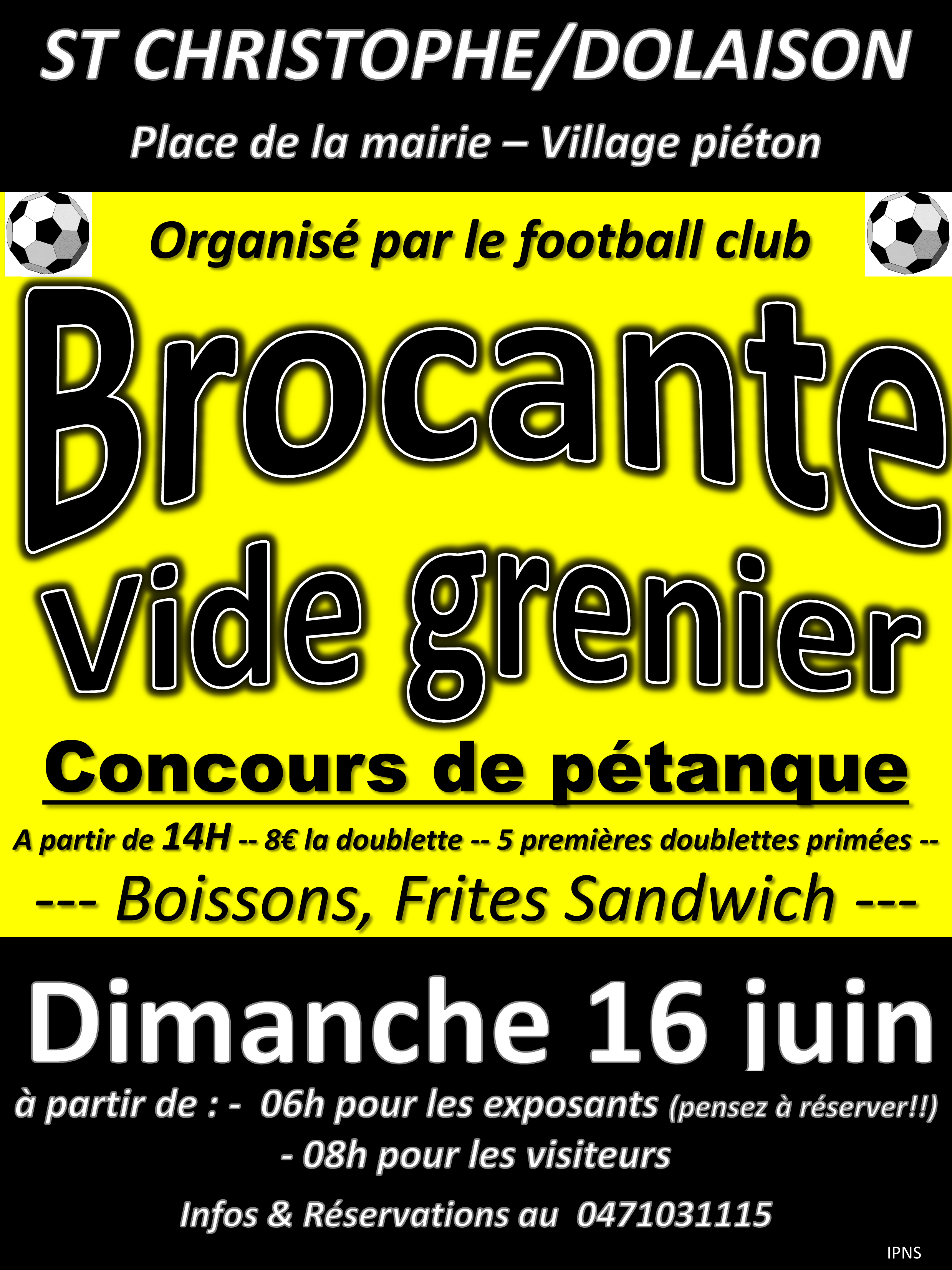 agenda brocante club football as saint christophe sur. Black Bedroom Furniture Sets. Home Design Ideas