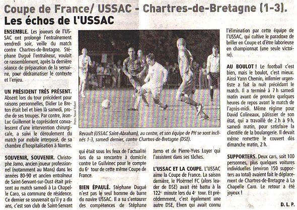 Actualit la presse le t l gramme retour sur le club football as st eloi la vraie croix - Coupe de france 2013 2014 ...
