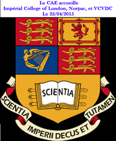 Le CAE accueille Impérial College of london, NORPAC et VCVDC